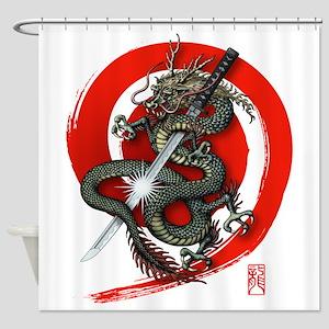 Dragon Katana4 Shower Curtain