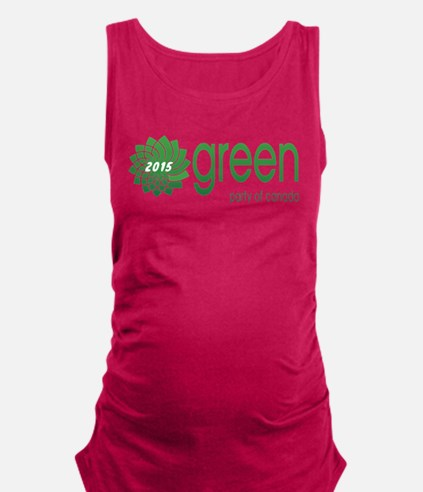 Green Party 2015 Maternity Tank Top