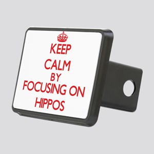 Keep calm by focusing on Hippos Hitch Cover