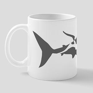 shark scuba diver hai taucher diving Mug
