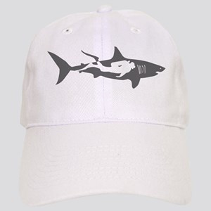 shark scuba diver hai taucher diving Cap
