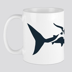 shark scuba diver hai tauchen taucher d Mug