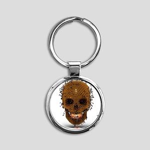 Skull Hive Round Keychain