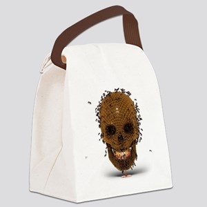 Skull Hive Canvas Lunch Bag