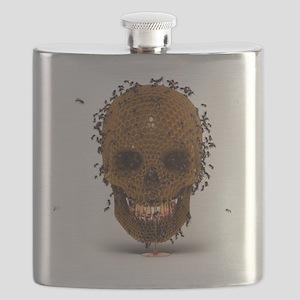 Skull Hive Flask