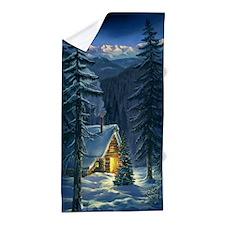 Christmas Snow Landscape Beach Towel