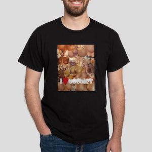 I Love Boobies Dark T-Shirt