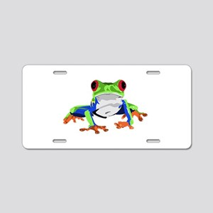 Frog Aluminum License Plate