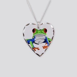 Frog Necklace Heart Charm