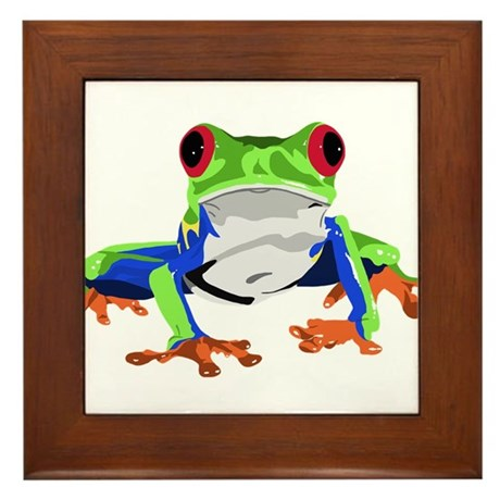 Frog Framed Tile  sc 1 st  CafePress & Tree Frog Wall Art - CafePress