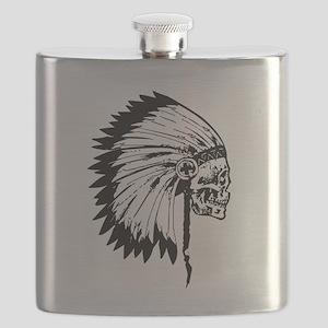 Native American Skull Flask