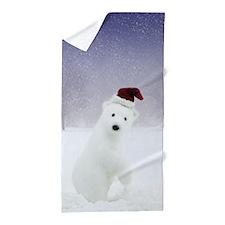 Christmas Polar Bear Beach Towel