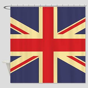 British Flag, Shower Curtain