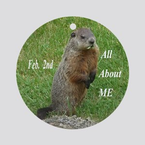 Groundhog Day Ornament (Round)