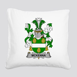 McKenna Family Crest Square Canvas Pillow