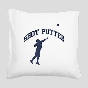 Shot Putter Square Canvas Pillow