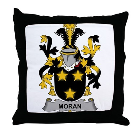 Moran Family Crest Throw Pillow