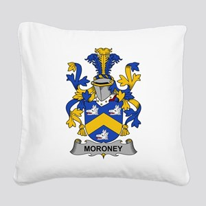 Moroney Family Crest Square Canvas Pillow