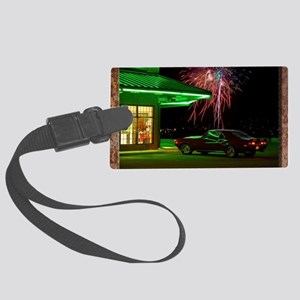 Curb Service camaro 4th of July  Large Luggage Tag