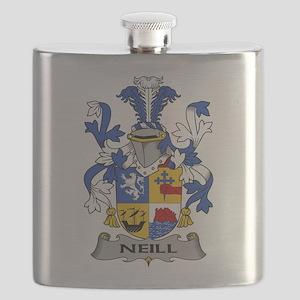 Neill Family Crest Flask