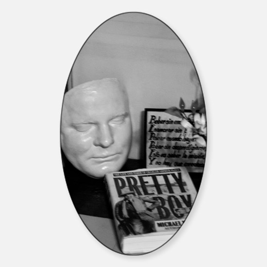 Pretty Boy Floyd Death Mask Sticker (Oval)