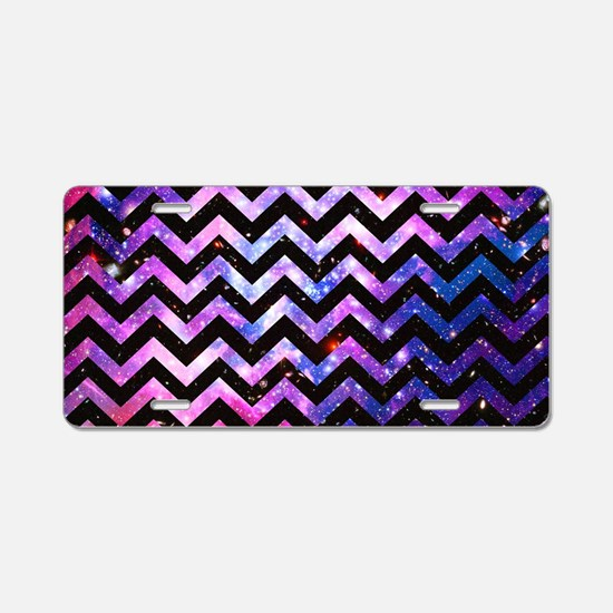 Girly Chevron Pattern Cute  Aluminum License Plate