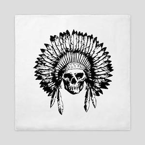 Native American Skull Queen Duvet