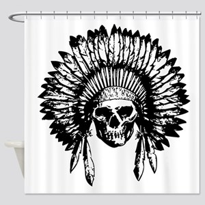Native American Skull Shower Curtain
