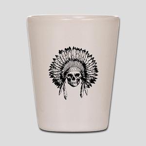 Native American Skull Shot Glass
