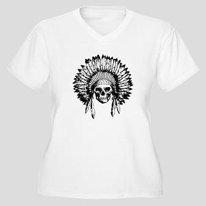 Native American Skull Plus Size T-Shirt