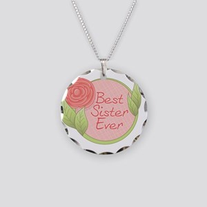Rose - Best Sister Ever Necklace Circle Charm