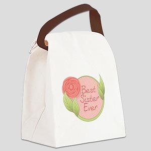 Rose - Best Sister Ever Canvas Lunch Bag