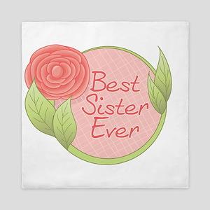 Rose - Best Sister Ever Queen Duvet