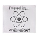 Fueled by Antimatter Throw Blanket