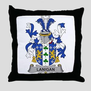 Lanigan Family Crest Throw Pillow