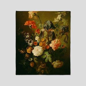 Jan van Huysum - Vase of Flowers Throw Blanket