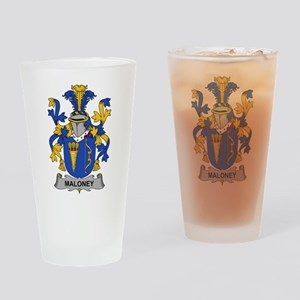 Maloney Family Crest Drinking Glass