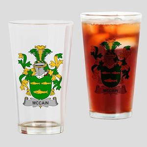 McCain Family Crest Drinking Glass