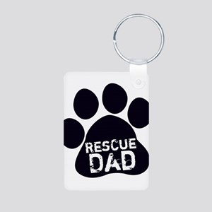 Rescue Dad Aluminum Photo Keychain
