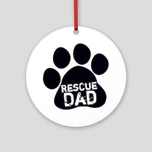 Rescue Dad Ornament (Round)