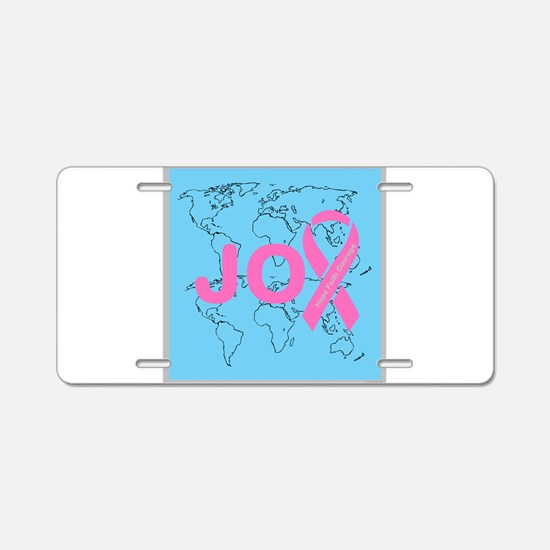 OYOOS JOY support cancer design Aluminum License P