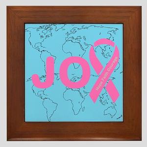 OYOOS JOY support cancer design Framed Tile
