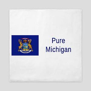 Michigan Motto #2 Queen Duvet