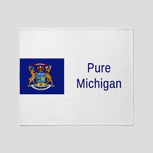 Michigan Motto #2 Throw Blanket