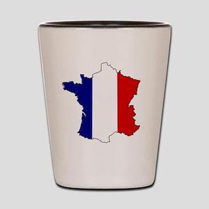 France Flag Map Shot Glass