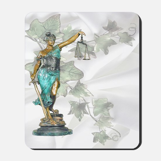 Lady Justice on Satin and Ivy Mousepad
