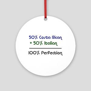 Italian & Costa Rican Ornament (Round)