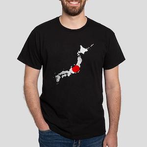Japan Flag Map Dark T-Shirt
