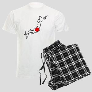 Japan Flag Map Men's Light Pajamas