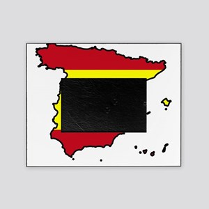 Spain Flag Map Picture Frame